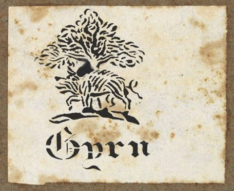 Y plât llyfr sydd ar y cyfrolau a brynwyd gan y Llyfrgell yn ddiweddar / The bookplate on the volumes recently bought by the Library.
