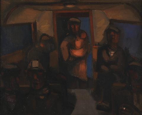 Miners' Bus : Josef Herman.