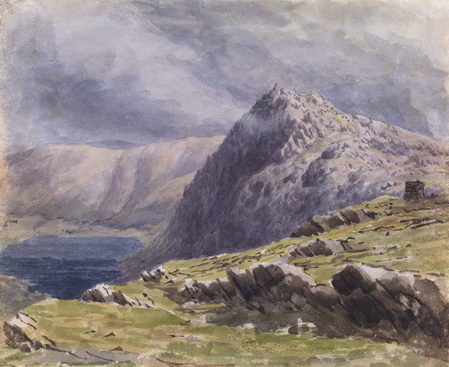 The summit of Aran Fawddy August 6, 1846