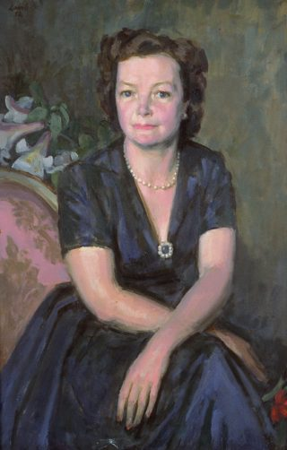 Lady Megan Lloyd George gan Henry Lamb, 1952