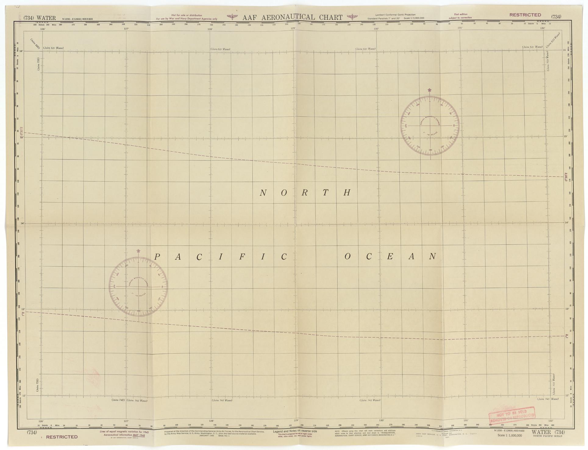 AAF Aero chart sheet 734