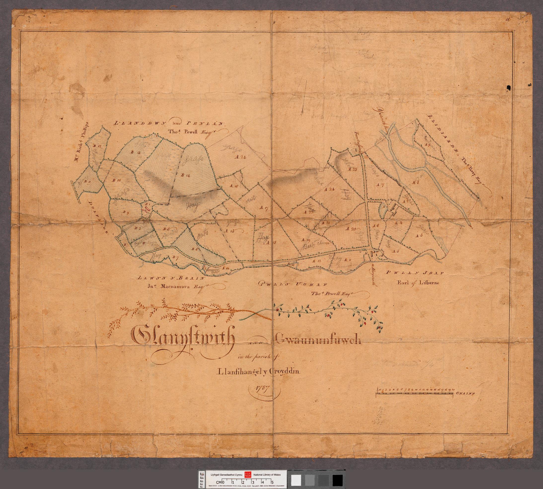 Glanystwyth Map 1787