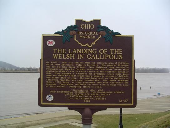 Cofeb, Gallipolis / Ohio Historical Marker, Gallipolis