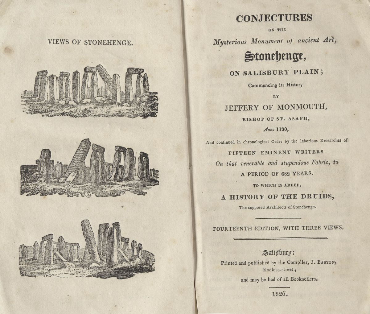 Conjectures on the mysterious monument of ancient art, Stonehenge, on Salisbury Plain, published in 1826.